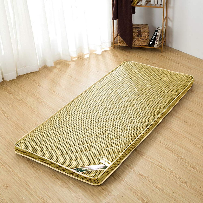 Foldable Warm Mattress,Student pad,Dormitory Single mat,Padded Ground futon,Flannel Mattress Prevent Allergy,K,80X190cm