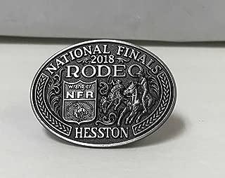 HESSTON NATIONAL FINALS RODEO NFR ADULT BELT BUCKLE 2018. NEW COWBOY WRANGLER PROR