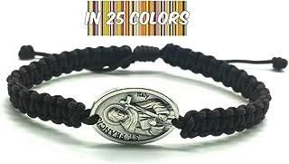St Francis of Assisi Medal Bracelet, Adjustable Protection Bracelet, Saint of Animals, Catholic 1st Communion Confirmation Gift