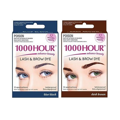 7aa75768979 1000 Hour Eyelash & Brow Dye / Tint Kit Permanent Mascara (Blue