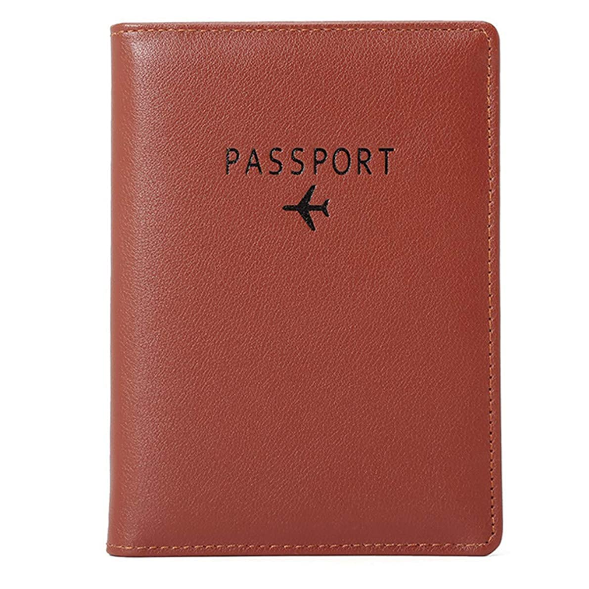 回転させる脆い権威パスポートケース カバー 男女兼用 多機能収納 トラベルパスポート財布 三つ折りドキュメントオーガナイザー ホルダー