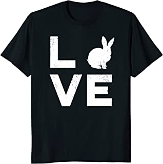 Love My Bunny White Rabbit Typography Gift T-Shirt - W