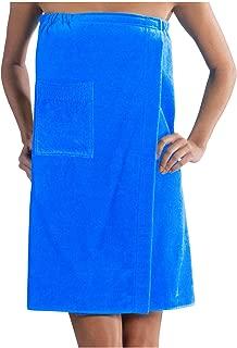 BY LORA Ladies Bath Wrap Terry Cotton Towels, Aqua, One Size