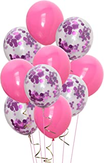 Confetti Balloons 12 Inch 30 Packs Assorted Latex Balloons Birthday Party Events Decoration (Hot Pink)