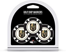 Team Golf NHL Golf Chip Ball Markers (3 Count), Poker Chip Size with Pop Out Smaller Double-Sided Enamel Markers