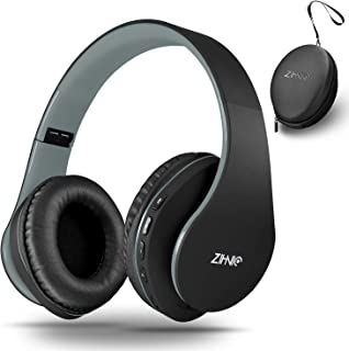 Bluetooth Headphones Over-Ear, Zihnic Foldable Wireless and Wired Stereo Headset Micro SD/TF, FM for Cell Phone,PC,Soft Ea...