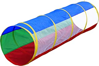 Hide N Side 6ft Crawl Through Play Tunnel Toy, Pop up Tunnel for Kids Toddlers Babies Infants Children & Dogs, Indoor Outdoor Tube