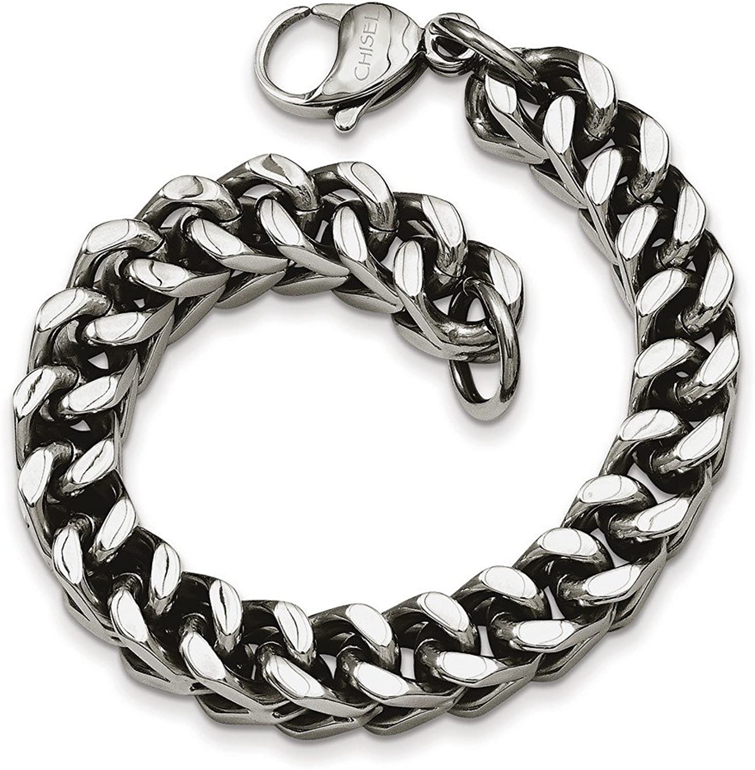 Beautiful Stainless Steel Heavy Wheat 9.5in Bracelet