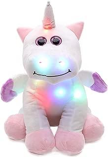 Juguete de unicornio grande con luces LED que cambian de color - Luz nocturna para niños/decoración de dormitorio/juguete de peluche - A partir de 18 meses