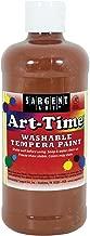 Sargent Art 17-3488 16 oz Brown Art-Time Washable Tempera Paint