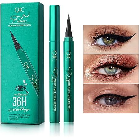 ONLYOILY Eyeliner waterproof, eyeliner liquido nero, eyeliner liquido impermeabile, antisudicio, a lunga durata (nero)