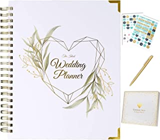 $30 » Wedding Planner Book and Organizer For The Bride - Gold Kit with Stickers, Pen & Gift Box | Future Mrs Gifts Wedding Plann...