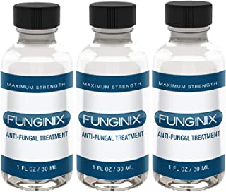 FUNGINIX Finger and Toe Fungus Treatment - Maximum Strength Solution, Eliminate Fungal Infections, Powerful & Effective (3 Bottles)