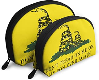 Don't Tread On Me Or My Son Ever Again Snake Portable Bags Clutch Pouch Storage Bag Cosmetic Case Make-up Carry On Travel Toiletry Bag