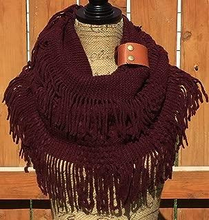 Burgundy Infinity Knit Scarf, Uptown Girl Co