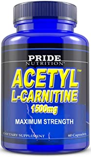 Acetyl L Carnitine 1500mg Supplement for Energy, Body Recomposition, Mental Sharpness, Memory & Focus- Antioxidant Brain P...