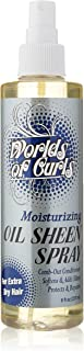 Worlds of Curls Comb Out Conditioner and Oil Sheen Moisturizer Extra Dry, 8 Ounce