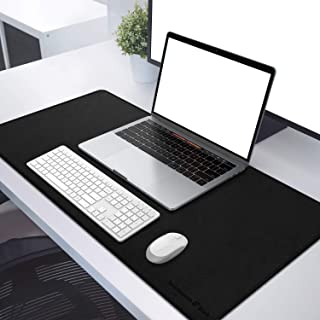 WORDSWORTH & BLACK Leather Desk Mat - Premium Vegan Leather Desk Pad - Double Sided Desk Mat - Ultra Ergocomfort Technology - 35