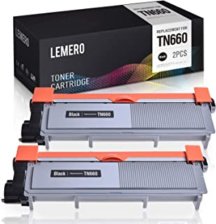 LEMERO Compatible Toner Cartridge Replacement for Brother TN660 TN630 TN-660 TN-630 High Yield - for Brother DCP-L2540DW HL-L2380DW MFC-L2740DW HL-L2300D HL-L2340DW MFC-L2700DW (Black, 2 Pack)