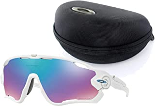 Oakley Jawbreaker Sunglasses (Polished White Frame/Prizm Iridium Lens) with Jawbreaker Soft Array Case (Black)