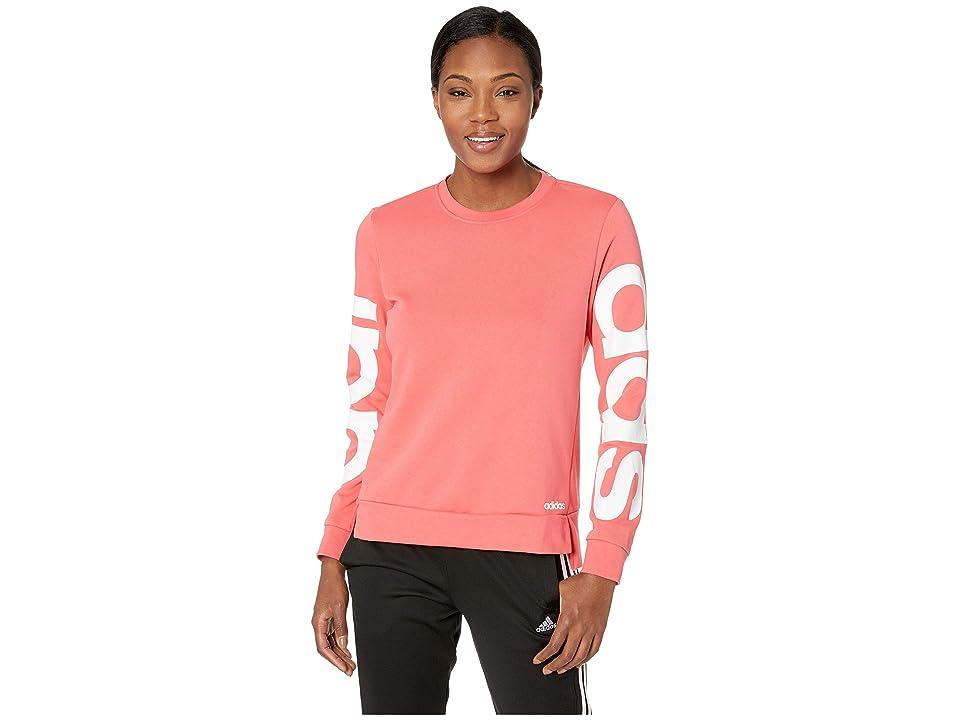 adidas Essentials Branded Sweatshirt (Prism Pink/White) Women