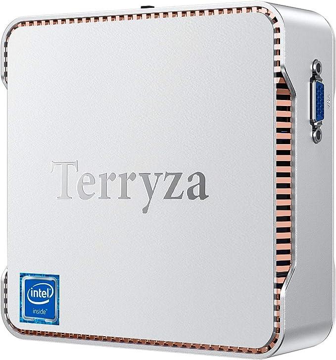Terryzα Mini PC Windows 10 Pro, Mini Desktop Computer Intel Celeron N3350 8GB DDR3 128GB SSD 4K, HDMI x2, Dual Band WiFi, Gigabit Ethernet, BT 4.2 Micro PC | Amazon