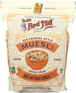 BOB'S RED MILL, CEREAL, MUESLI, HOT OR COLD, Pack of 4, Size 40 OZ - No Artificial Ingredients Kosher