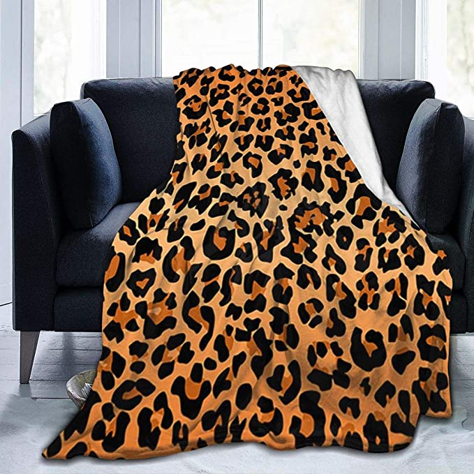 Leopard Print Super Soft Blanket Winter Warm Cosy Bed Cover Sofa Bed Blanket MP