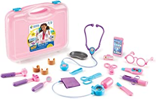Learning Resources Pretend and Play Doctor Kit for Kids, Pink Doctor Costume, 19 Piece Set, Ages 3+
