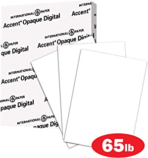 Accent Opaque Thick Cardstock Paper, White Paper, 65lb Cover, 176 gsm, Letter Size, 8.5 x 11 Paper, 97 Bright, 1 Ream / 250 Sheets, Super Smooth, Heavy Card Stock (121939R)