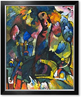 DecorArts - Picture with an Archer, Wassily Kandinsky Abstract Wall Art. Giclee Prints Canvas Art for Home Decor 30x24