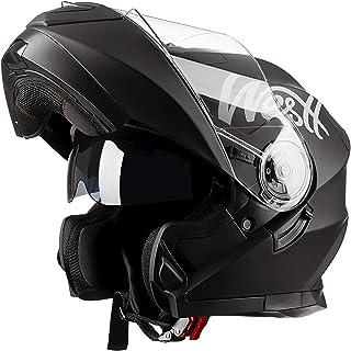 Westt - Casco Moto Modular Integral con Doble Visera Torque X, Para Motocicleta Scooter, Certificado ECE, Color Negro, Tal...