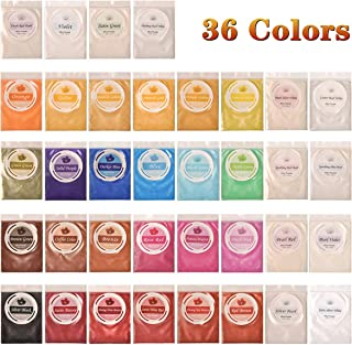Biutee Mica Powder 36 Colors pigments for Slime 5g/pcs Soap Making dye Skin Safe Resin Dye for Soap Making/Bath Bomb/Resin Jewelry/Nail Art/Eyeshadow DIY/Candle Making (36Colors)