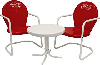 Leigh Country CP 98015 Retro Coca-Cola Bistro Table and Chair Set, Red/White