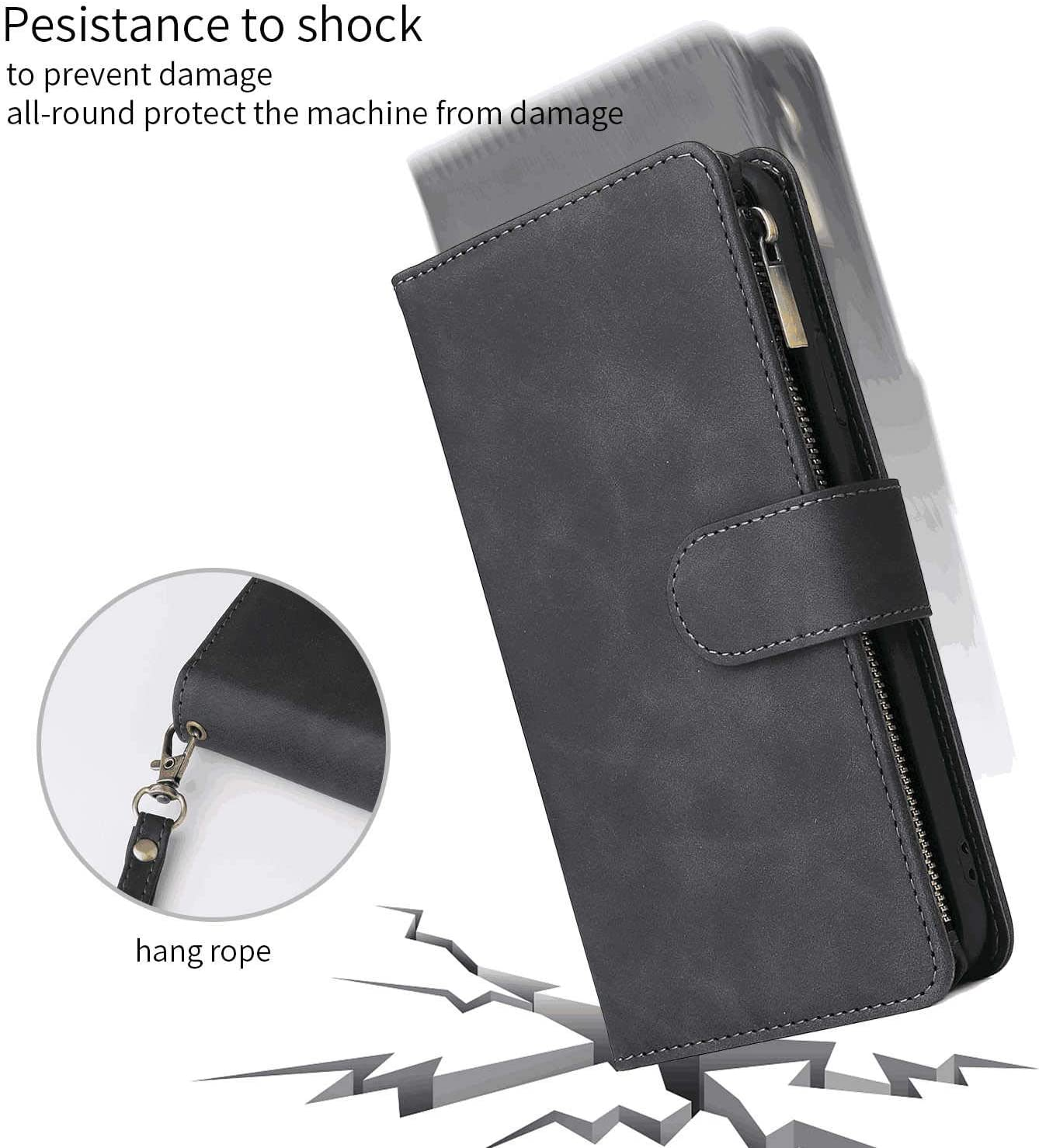 PU Leather Case Compatible with iPhone 8 Plus Cell Phone Business-Design Flip Cover for iPhone 8 Plus