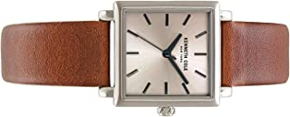 Kenneth Cole Men's Grey Dial Leather Band Watch - KC15175008