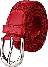 ZORO Stretchable braided cotton belt for men and women,flexible unisex belt