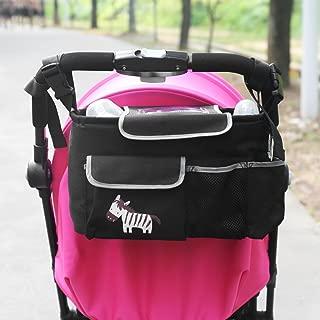 para cochecito de beb/é Bolsa organizadora para cochecitos de beb/é de lona negro LnLyin