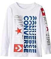 Long Sleeve Logo Remix Graphic T-Shirt (Little Kids)