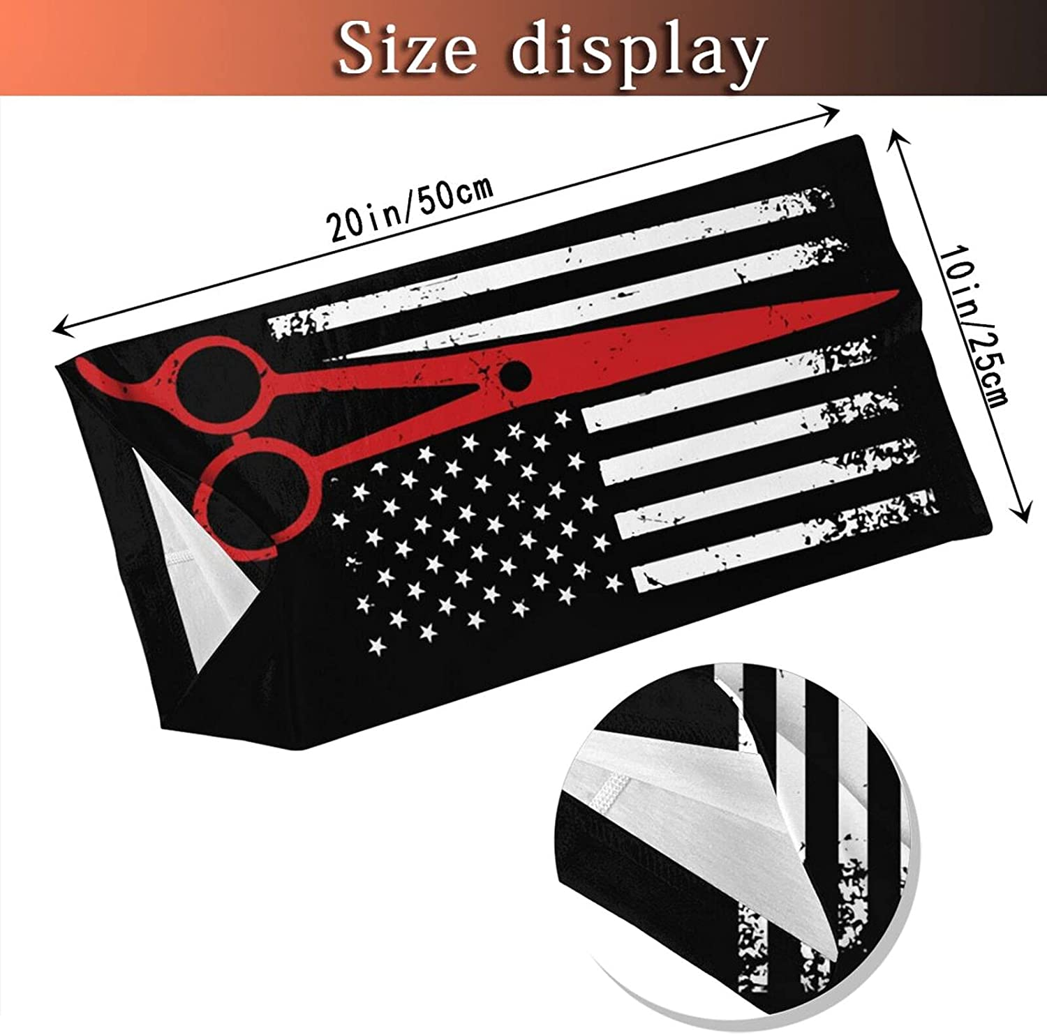 Hairdresser Hairstylist Salon Flag Round Neck Gaiter Bandnas Face Cover Uv Protection Prevent bask in Ice Scarf Headbands Perfect for Motorcycle Cycling Running Festival Raves Outdoors