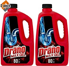 Drano Max Gel Clog Remover, 80 Fl. Oz (2 Count), 2 Pack