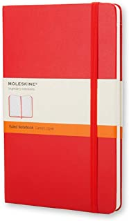 Moleskine 9 x 14 cm Classic Ruled Paper Notebook, Hard Cover and Elastic Closure - Scarlet Red