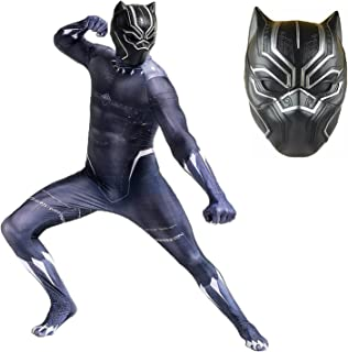Avengers Black Panther Costume Halloween Boy Adult Cosplay Superhero Bodysuit Lycra Spandex Zentai Kids Jumpsuit Tights On...