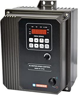 KB Electronics, 9543, KBDA-27D (Gray), 1.5;2HP, 1-Phase, 110-120V;200-240V (Input), Nema 4X Enclosure, Variable Frequency ...