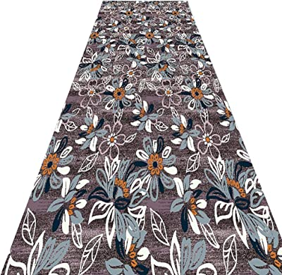 PPCP Hallway Runner Rug Long Runner Rugs Corridor Carpet Hallway Runner Rugs Polyester Material 3D Floral Geometric Pattern Suitable for Corridor Aisle Kitchen Customizable