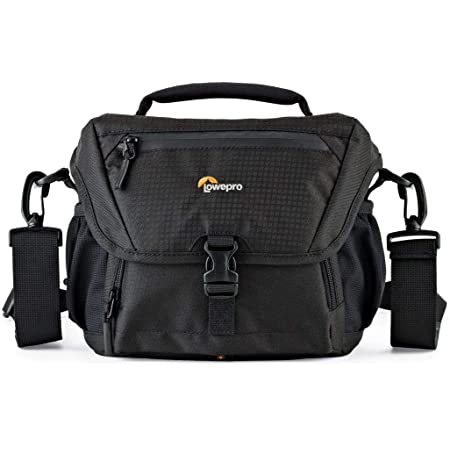 Lowepro LP37119, Nova 160 AW II Camera Bag, Customizable, Portable, Fits DSLR with Attached Lens, Compact Drone, 1-2 Additional Lenses, Flash, Black