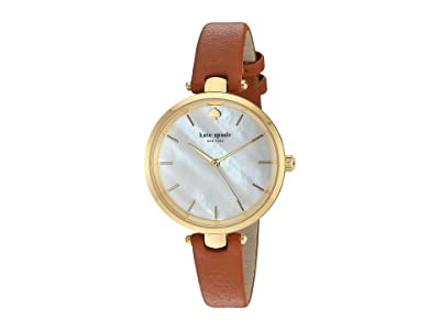 Kate Spade New York Holland Watch KSW1156 (Luggage/Gold) Watches