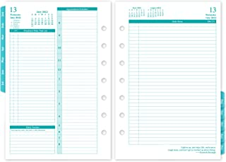 """$45 » 2022 Planner Refills – Two Pages Per Day Daily & Monthly Planner, 5.5"""" x 8.4"""" Ring-Bound Organizer, Jan 2022 - Dec 2022, w..."""