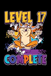 Level 17 Complete: Gaming Lined Notebook incl. Table of Contents on 120 Pages   Gaming Gamers Journal   Gift Idea for Game...