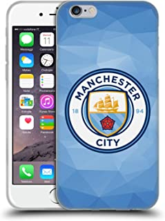 Official Manchester City Man City FC Blue Full Colour Badge Geometric Soft Gel Case Compatible for iPhone 6 / iPhone 6s